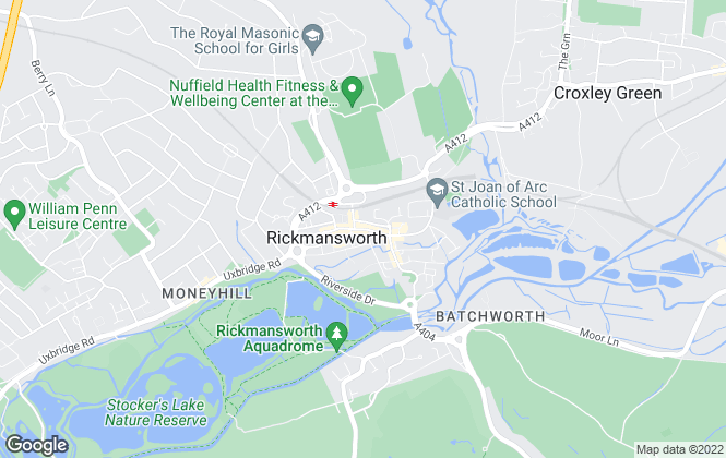 Map for Dey King and Haria Estate Agents, Rickmansworth