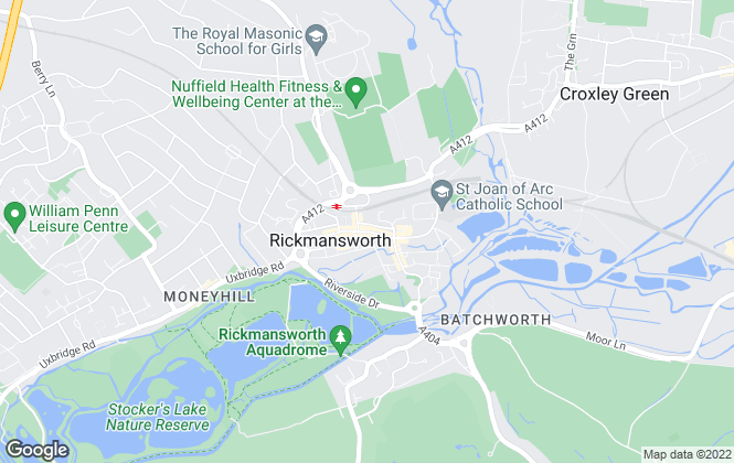 Map for Hamptons Sales, Rickmansworth