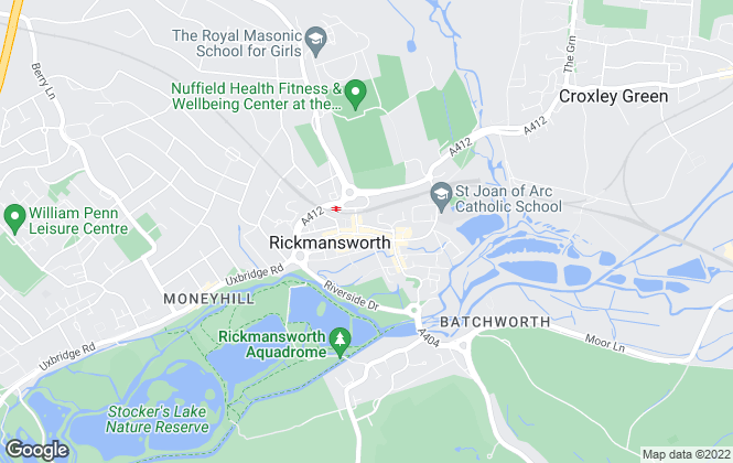 Map for Hamptons International Sales, Rickmansworth