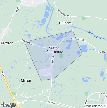Map of property in Sutton Courtenay