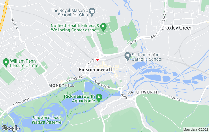 Map for Trend & Thomas, Rickmansworth