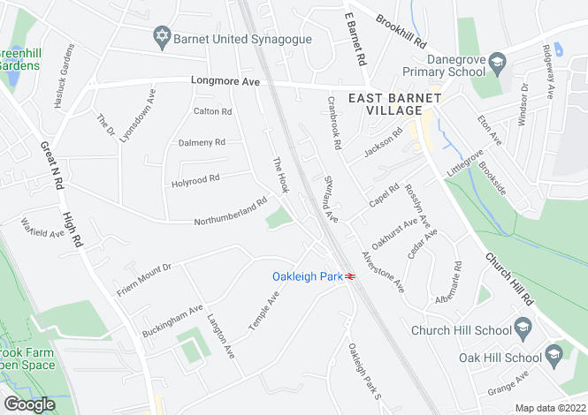 Map for Mallard Close, New Barnet, Hertfordshire, EN5 1DH