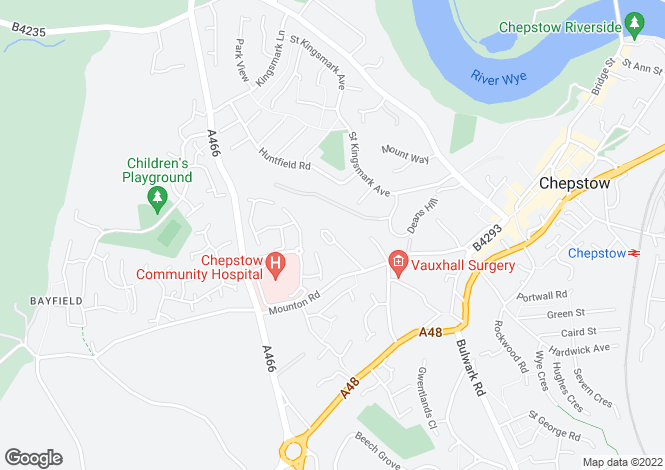 Map for Ruffetts Close, Chepstow