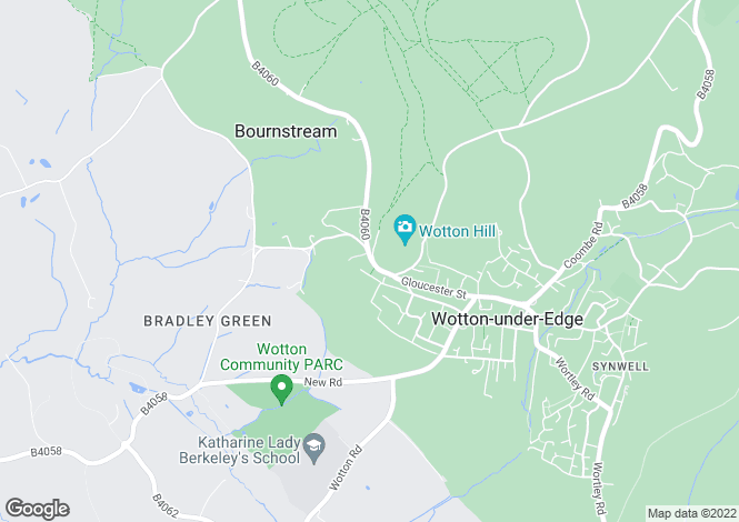 Map for Bradley Road, Wotton-under-Edge, Gloucestershire