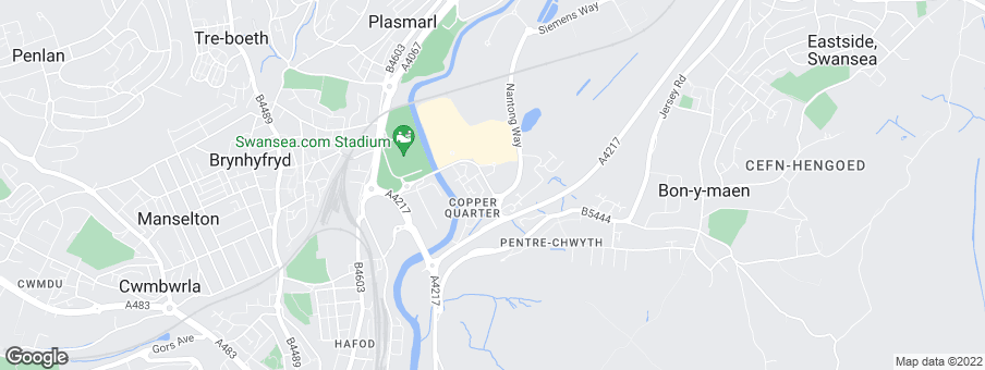 Map for Copper Quarter development by Barratt Homes