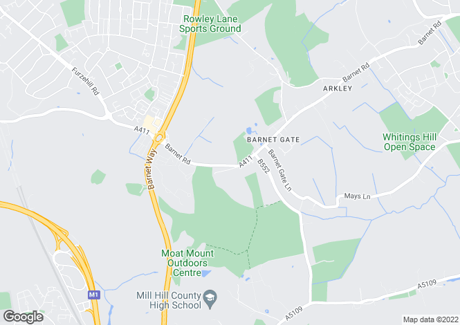 Map for Barnet Road, Arkley, Herts, EN5