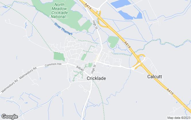 Map for mlettings, Swindon