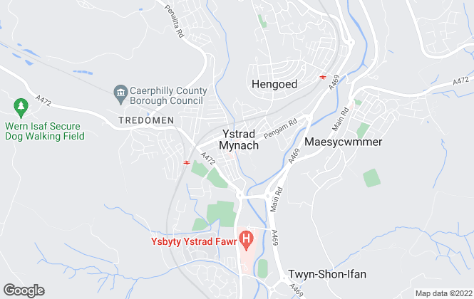 Map for Peter Mulcahy, Ystrad Mynach