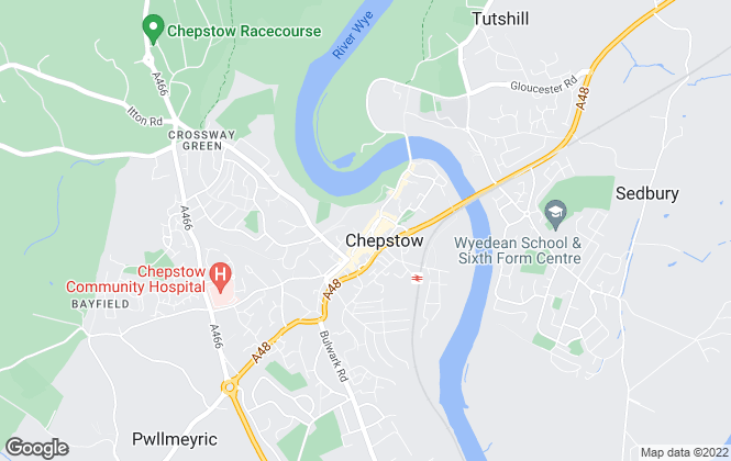 Map for Properts, Chepstow