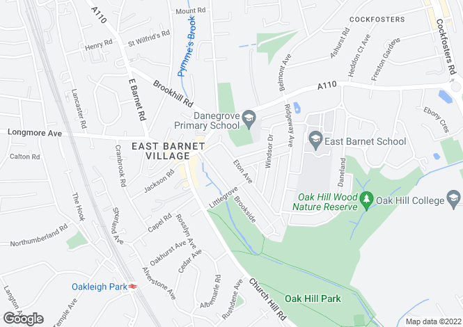 Map for Eton Avenue,