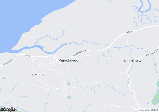 Map for Abercedi, Penclawdd, Swansea