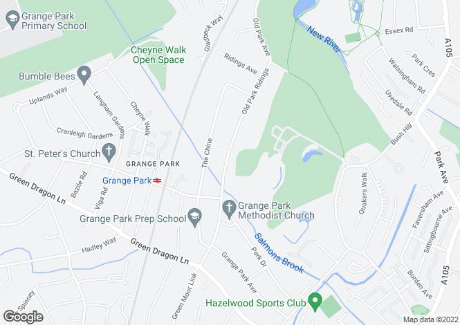 Map for Grange Park, London, N21