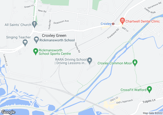 Map for Woodland Chase, Harvey Road, Croxley Green, Rickmansworth, Hertfordshire, WD3