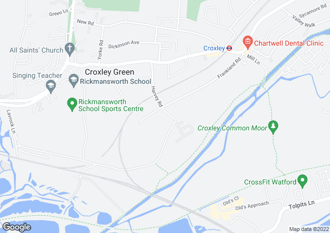 Map for Imperial Way, Croxley Green, Hertfordshire, WD3