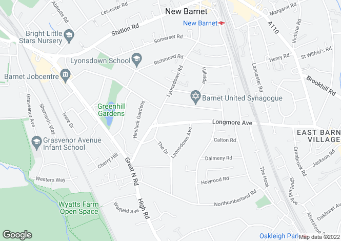 Map for BARNET LONGMORE AVENUE