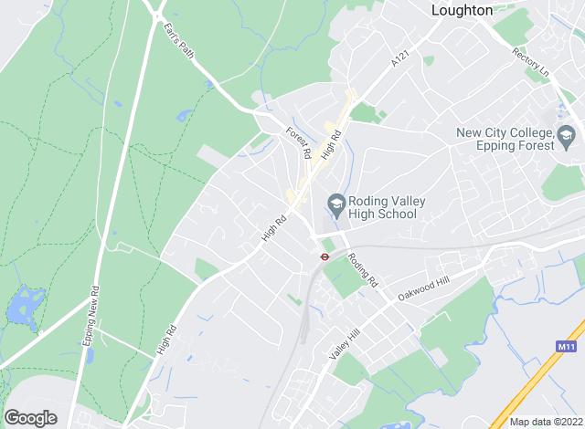 Map for Abbotts, Loughton