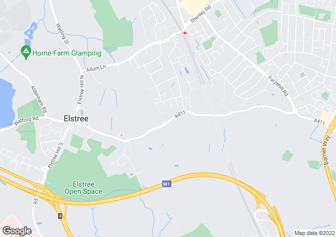 Map for Barnet Lane, Elstree