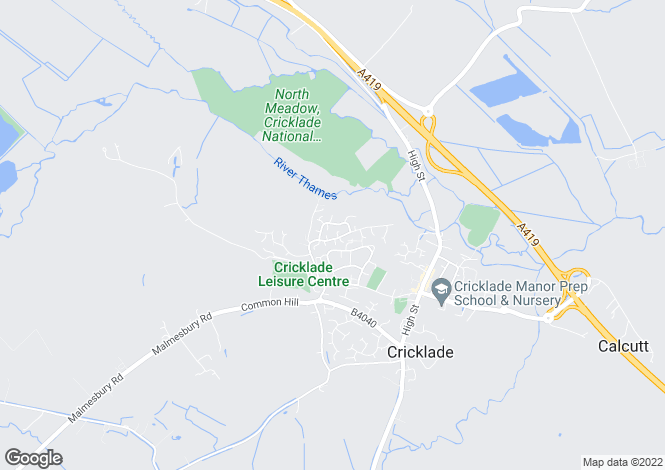 Map for Hallsfield, Cricklade, SN6