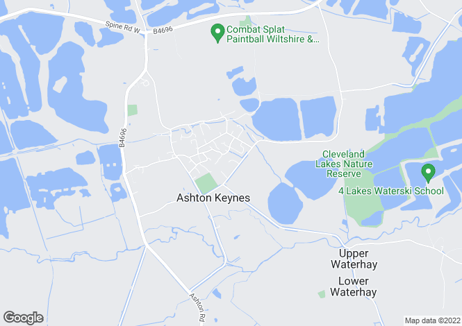 Map for Four Acre Close, Ashton Keynes, Wiltshire