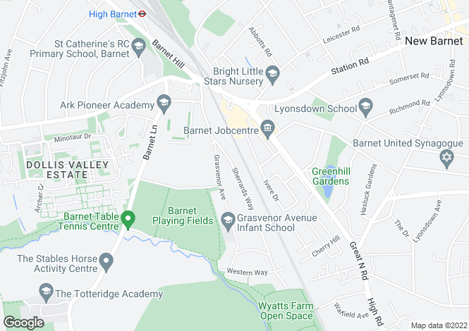 Map for Sherrards Way,