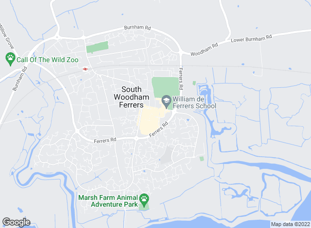 Map for Church & Hawes, South Woodham Ferrers