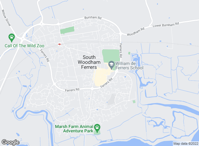Map for County Estates, South Woodham Ferrers