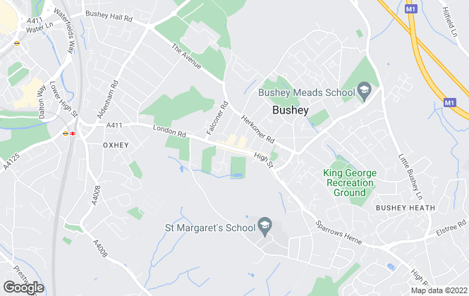Map for Connells, Bushey