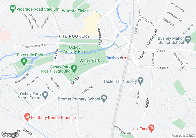 Map for Oxhey