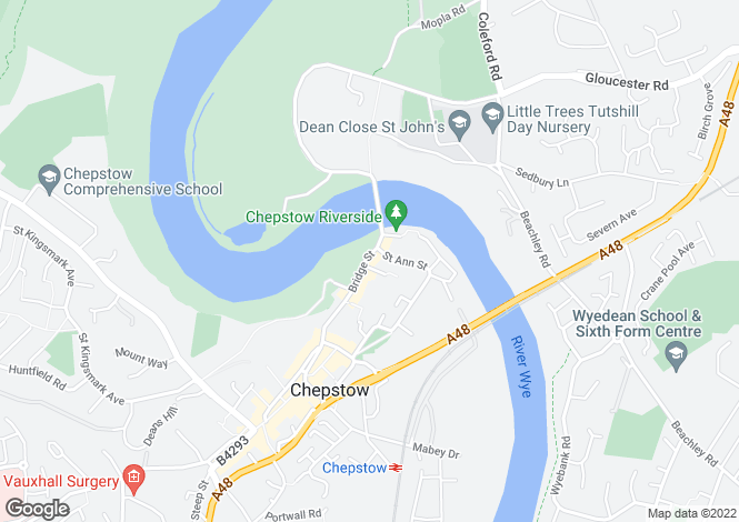 Map for Bridge Street, Chepstow