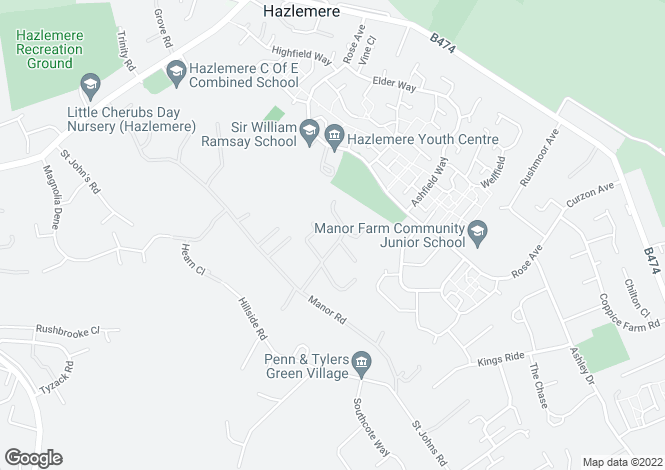 Map for Grantleigh House Manor Close, Penn, High Wycombe