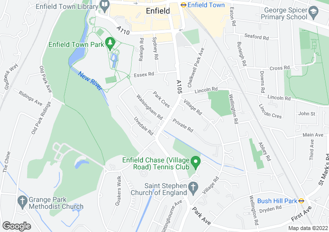 Map for London Road, Enfield, London, EN2