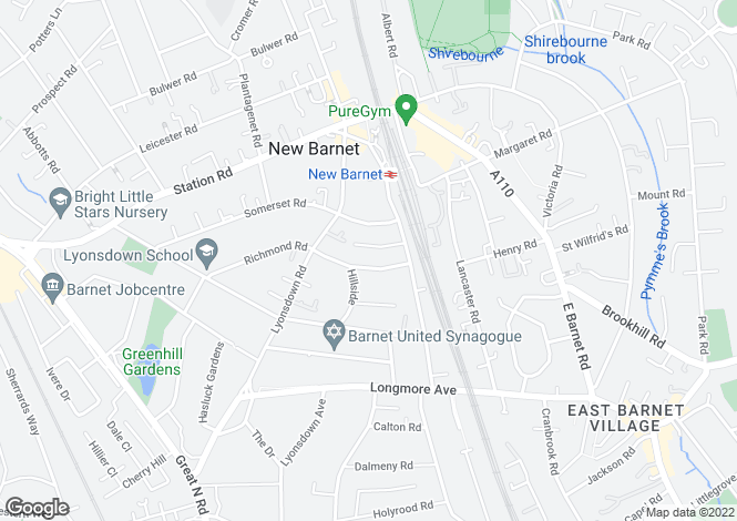 Map for Richmond Road, New Barnet