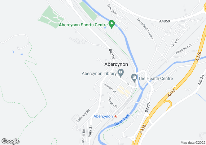 Map for Plantation Road, Abercynon