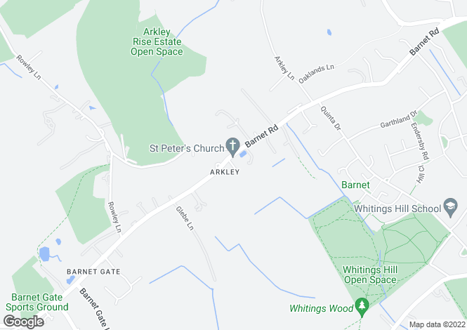 Map for Barnet Road, Arkley, Hertfordshire EN5 3JS