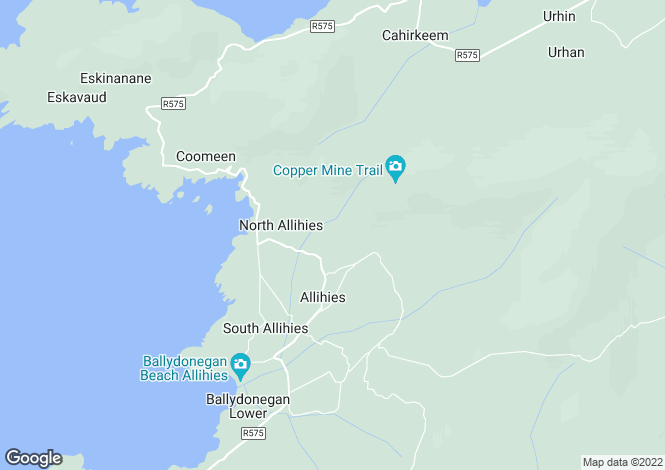 Map for Allihies, Cork