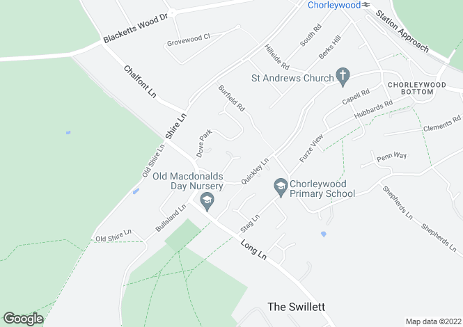Map for Quickley Rise, Chorleywood