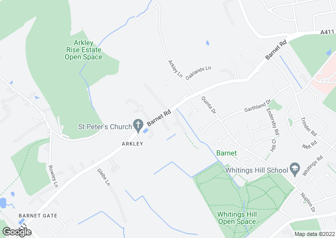 Map for Barnet Road, Arkley, Hertfordshire, EN5