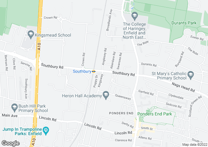 Map for Southbury Road,
