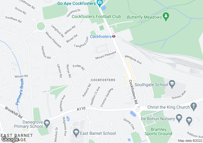Map for Ashurst Road, Barnet, EN4 9LG
