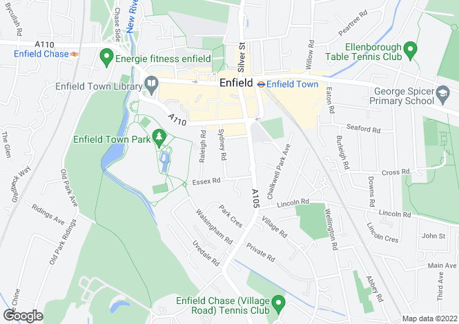 Map for Sydney Road, Enfield
