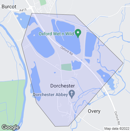 Map of property in Dorchester-On-Thames
