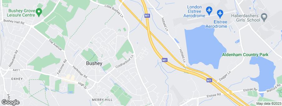 Map for David Wilson Homes North Thames