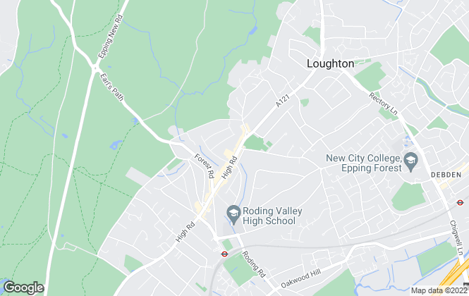 Map for Fine & Country, Loughton