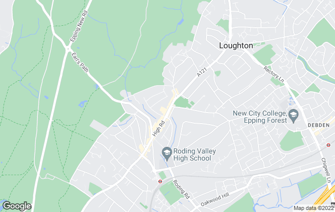 Map for Hetheringtons, Loughton
