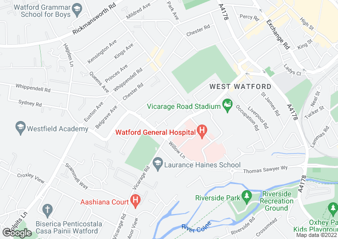 Map for Holywell Road, Watford, Hertfordshire