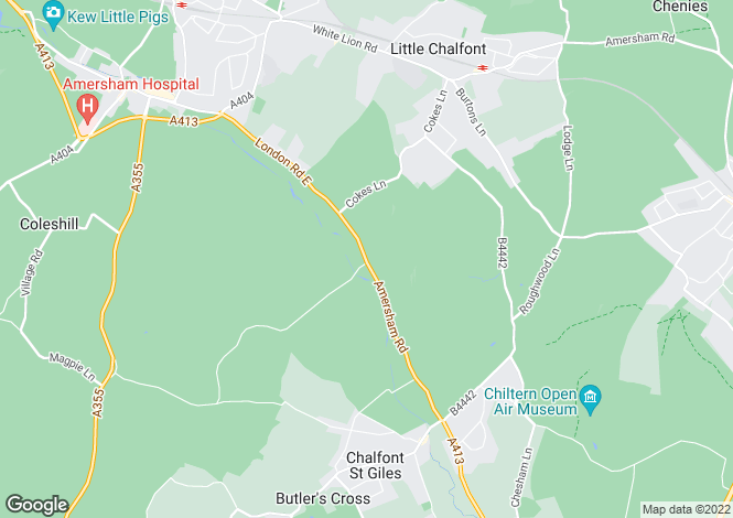 Map for Ebbtide Lodge, Amersham Road, Chalfont St Giles, Buckinghamshire