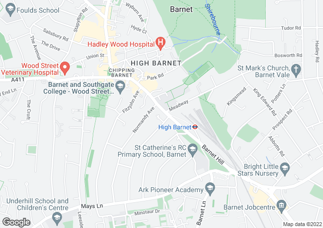 Map for High Street, Barnet