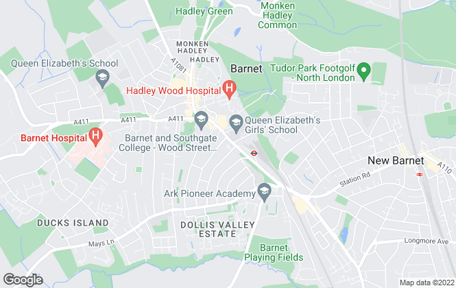 Map for Archers Estate Agents, Barnet - Sales