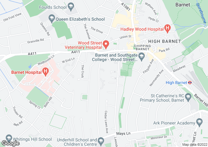 Map for Scholars Close, High Barnet