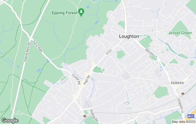 Map for The Jenkin Partnership, Loughton